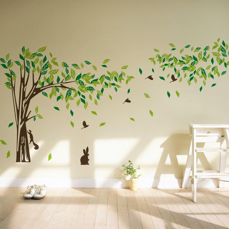 Big size trees living room tv wall stickers tree wall for Stickers para pared decorativos