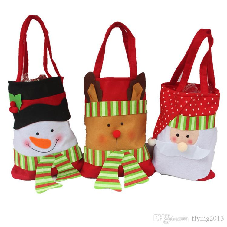 2016 christmas decoration candy bags santa merry christmas gift candy sweet apple gift bags gift wrap santa sack non woven drawstring gift christmas