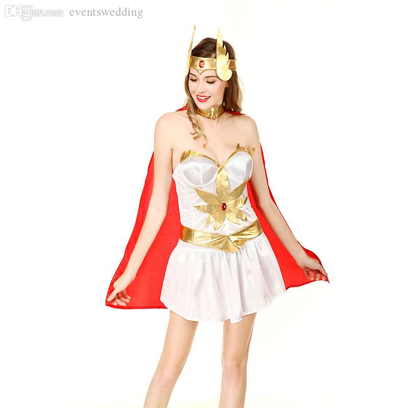 2019 Wholesale Sexy Thor Costume For Women Sexy Sparta Women Dress
