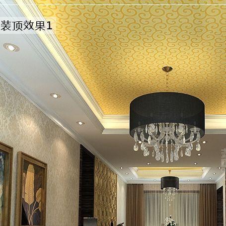 Modern Chinese ceiling golden wallpaper bedroom living room sofa TV  backdrop entrance reflective foil wallpaper