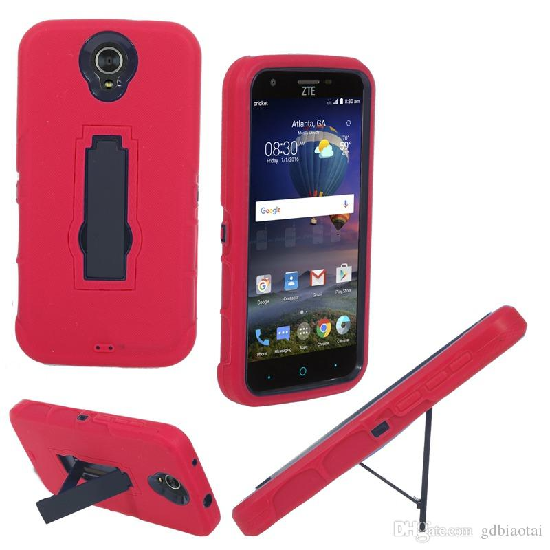 2016 New Heavy Duty For ZTE N817 Cell Phone Case Silicone+PC Anti-skidding and Anti-knock With Kickstand 2 in 1 case