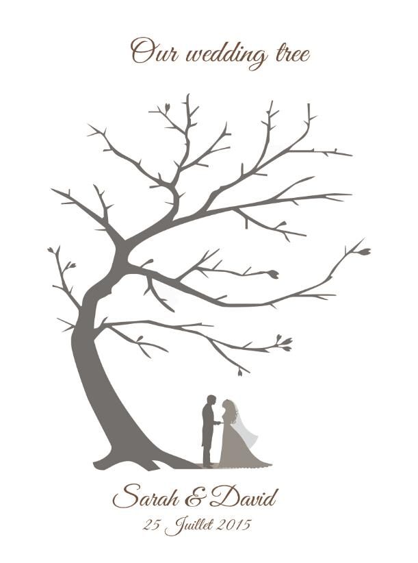 Favoloso Acquista Customized Vintage Wedding Impronte Albero Guestbook  OY47