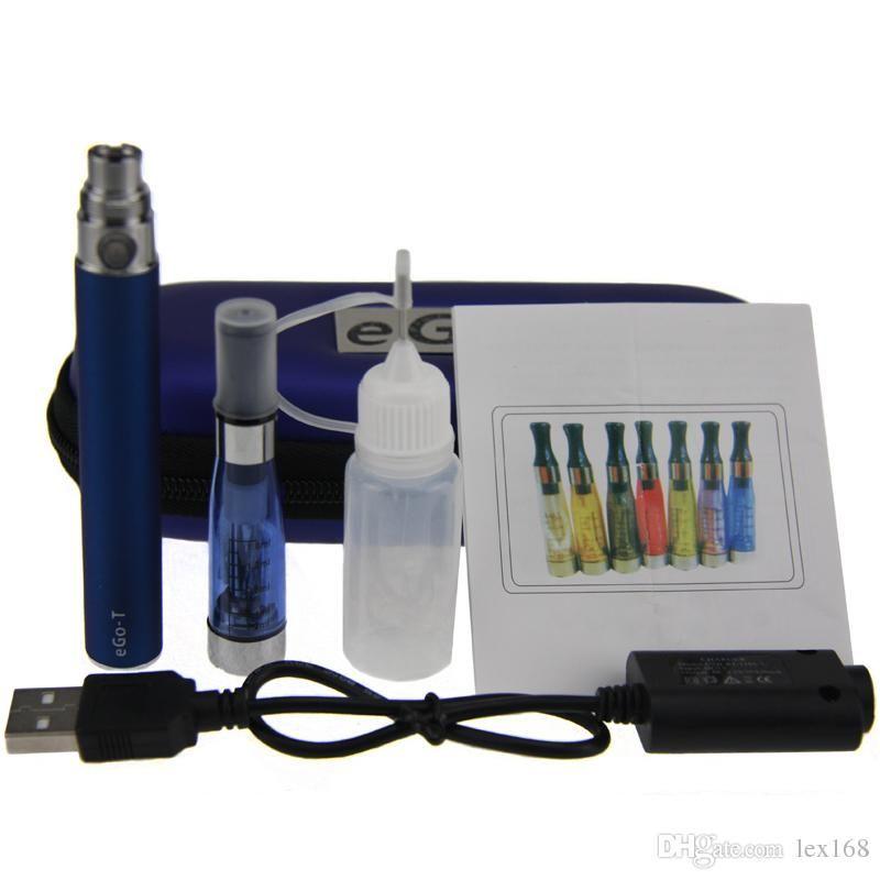 CE4 eGo Başlangıç Kiti Elektronik Sigara Fermuar Kılıfı Tek Kiti E-Sigara 650 mah 900 mah 1100 mah Pil en iyi fiyat CE4 atomizer buharlaştırıcı