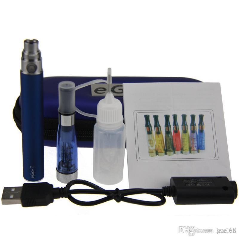 Top quality CE4 Zipper eGo Starter Kit Electronic Cigarette Case Single Kit E-Cigarette 650mah 900mah 1100mah Battery CE3 tank Vaporizer