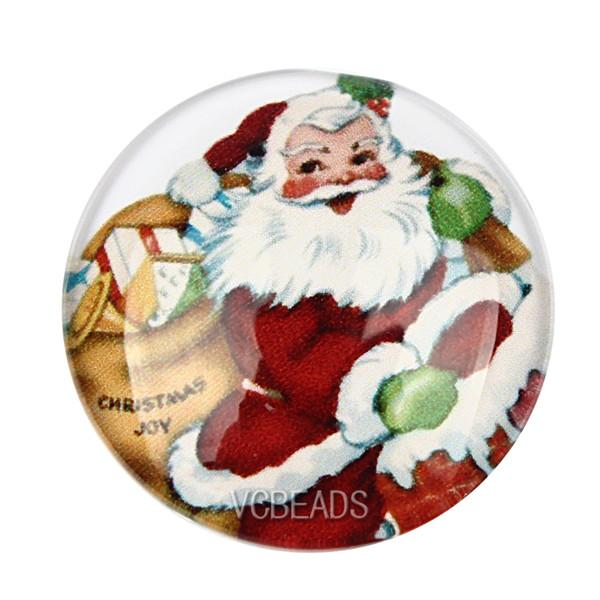 merry christmas cartoon christmas glass cabochons christmas