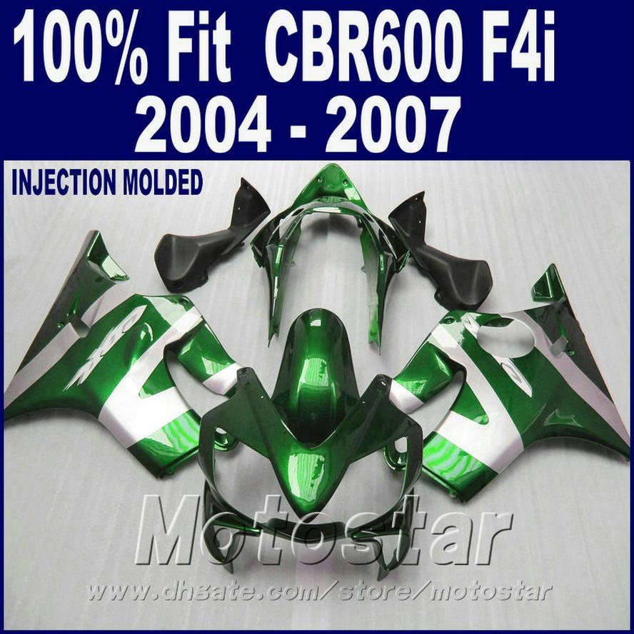 HONDA CBR 600 F4i için% 100 Enjeksiyon kalıplama yeşil kaporta 2004 2005 2006 2007 ABS cbr600 f4i 04 05 06 07 kaporta kiti DJYW