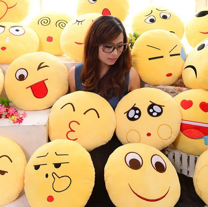 discount 10 styles cartoon emoji pillow soft smiley emoticon pillows kids children stuffed plush toy halloween christmas xmas gift car sofa cushion from