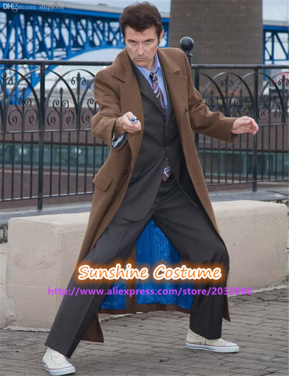 2018 Fall Tenth 10th Doctor Who Cosplay Costume 10th Doctor Brown Cosplay Costume Brown Long Trench Coat From Shipsoon $129.17 | Dhgate.Com  sc 1 st  DHgate.com & 2018 Fall Tenth 10th Doctor Who Cosplay Costume 10th Doctor Brown ...