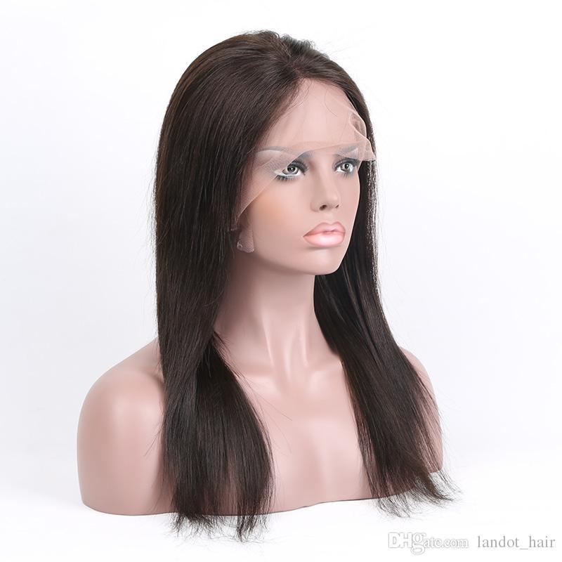 10A 100 % 버진 인간의 머리 전체 레이스가 발 브라질 여성에 대 한 브라질 페루 말레이시아 인도 캄보디아 스트레이트 Glueless 레이스 프런트가 발