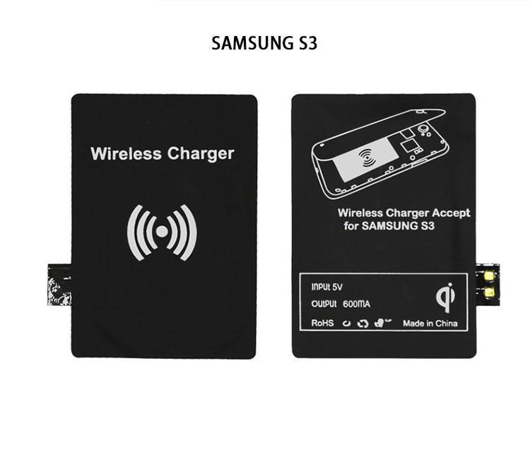 새 Qi 충전기 수신기 무선 충전 어댑터 리셉터 수신기 삼성 전자 갤럭시 S3 S4 S5에 대 한 패드 코일 참고 2 3 iphone 5/6 마이크로 모바일