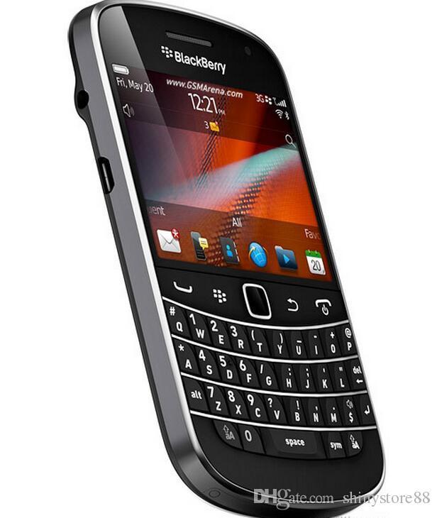 بلاك بيري 9900 AZERTY QWERTY Keyboard 2.8 بوصة WiFi GPS 5.0MP مجدد الهاتف الخليوي