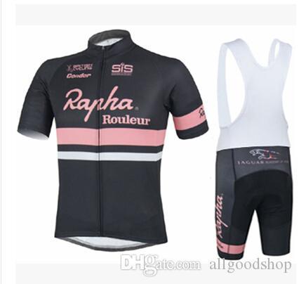 2016 Cheep Rapha BikeCycling Mangas cortas Ciclismo de verano Ropa Ciclismo Ropa de bicicleta Cómodo anti UV Hot New Jerseys de Rapha