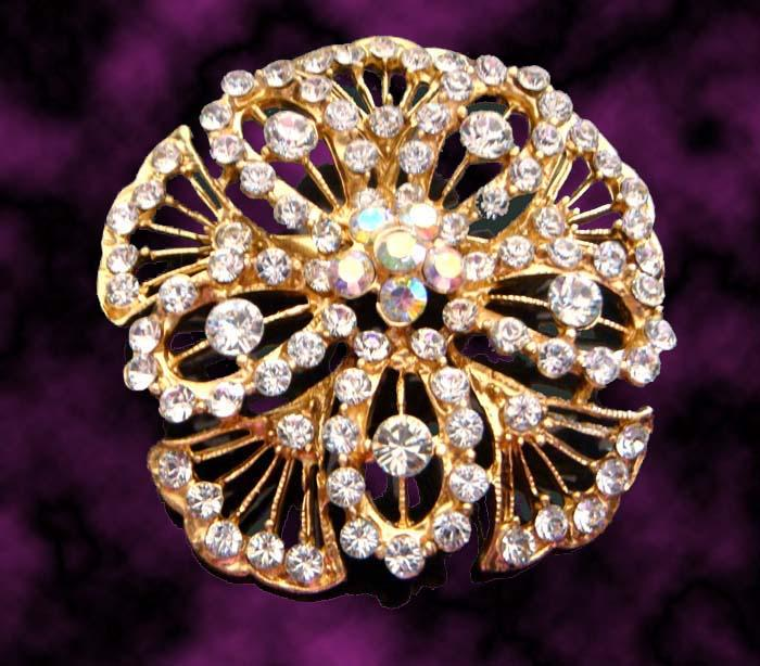 Wholesale hot sell fashion flowers crystal brooch rhinestone alloy brooch costume jewelry mixed colorBH660