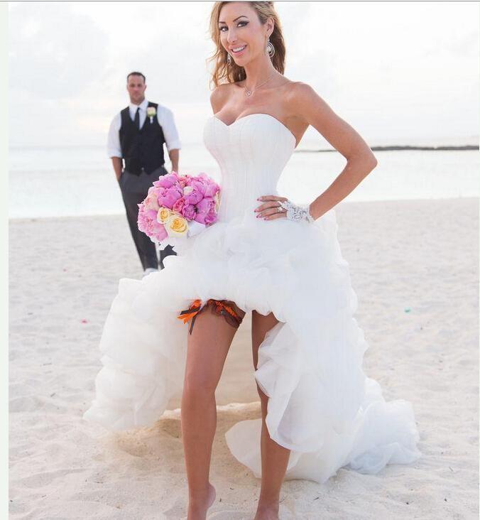 Vestidos de novia cortos para la playa