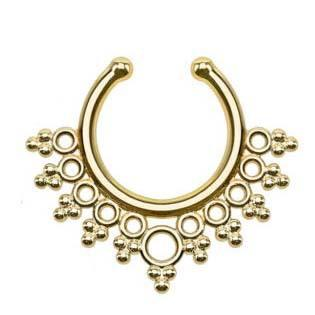New Clip-on Nose Rings Studs fake nose ring Unisex Punk Non Piercing Fake Nose Ring Stud Hoop 18k Gold Fake Piercing Septum Indian Piercing
