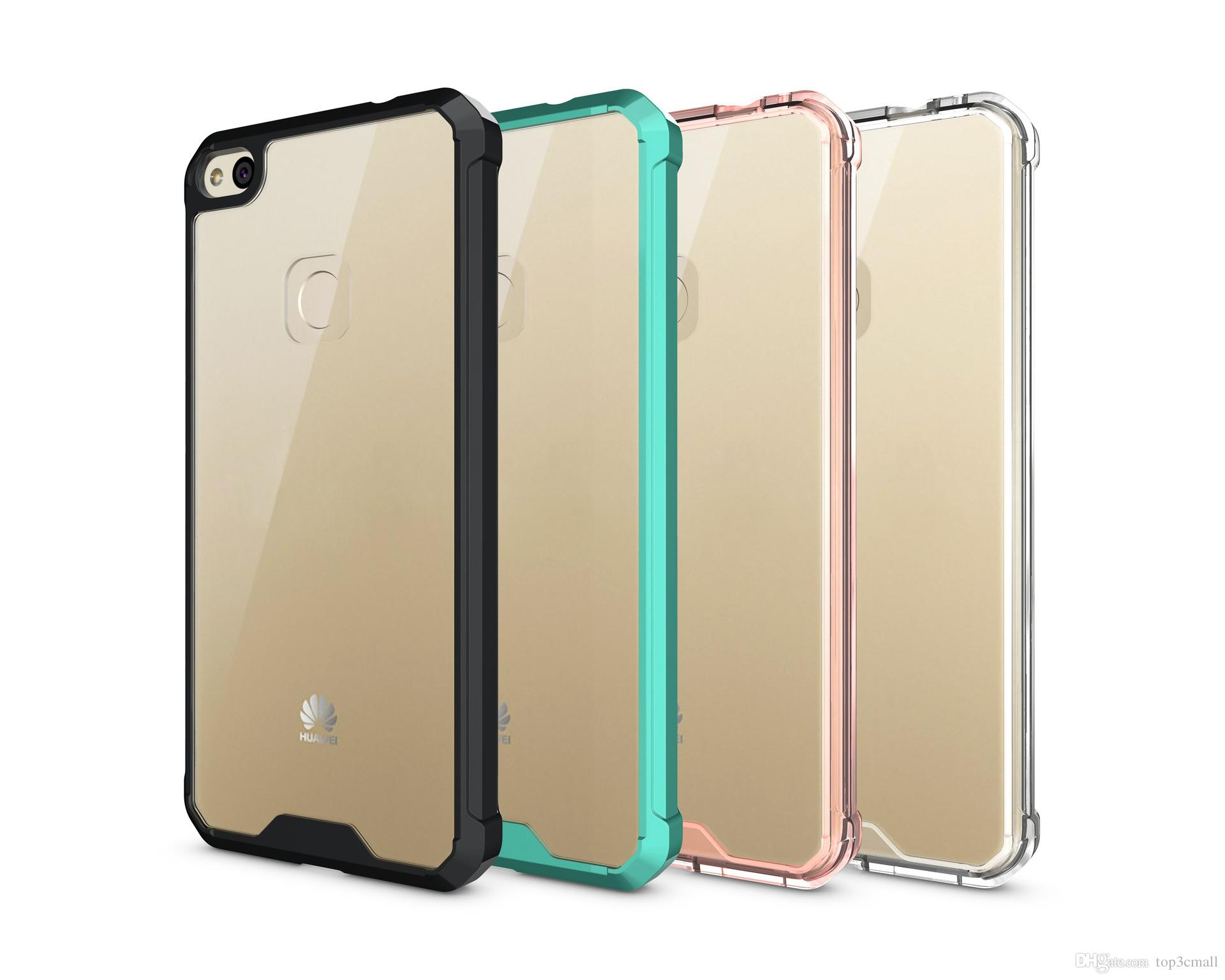 the best attitude f354e 0860c For Huawei P8 lite 2017/P10 lite Case Soft TPU Bumper Clear Hybrid Back  Cover Case For Huawei P8lite 2017/P10 lite