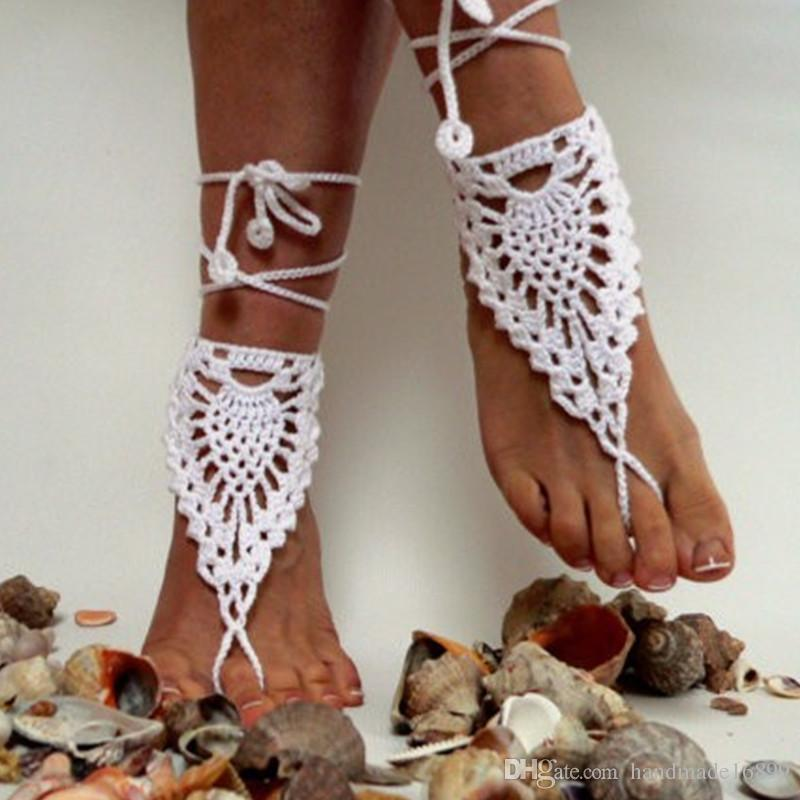 ae82a7599 OR Crochet Black Barefoot Sandals
