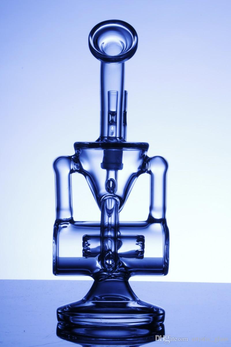 double recycler bong scientific phonix glass bong klein vapor recycler oil rig glass water pipe pulse bio dab oil rig bong glass hookahs
