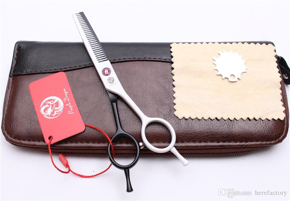 "Z1012 5.5"" 16cm Japan White Dragon Professional Human Hair Scissors Barber's Hairdressing Scissors Cutting Thinning Shears Salon Style Tool"