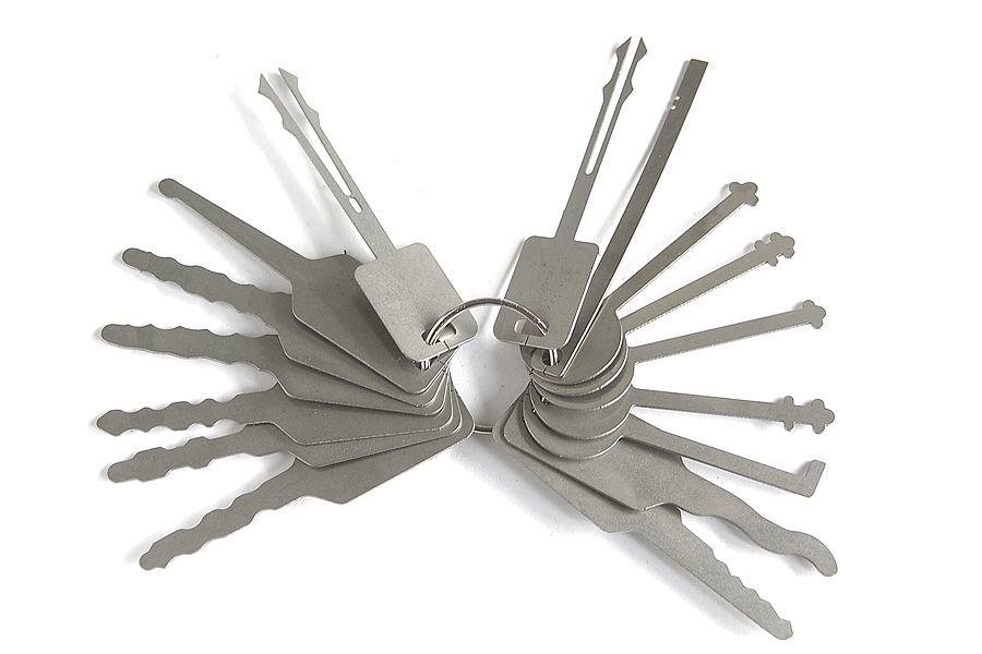 Jiggler keys Lock Picking tools Lock Pick Set for Double Sided Lock Pick Tools for Car Lock Opener
