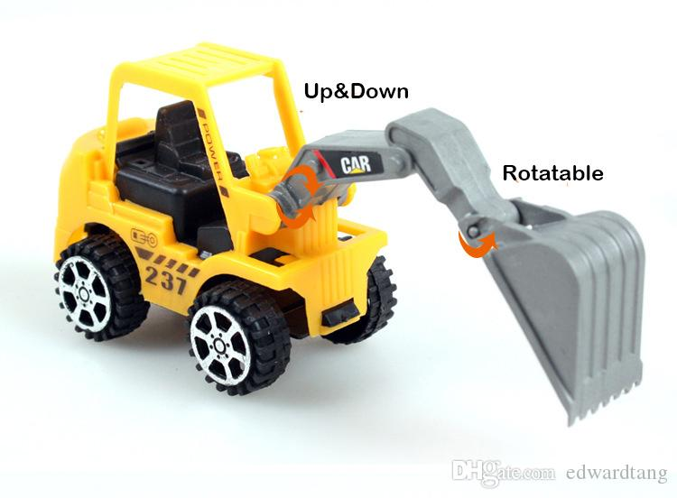 Мини-инженерные грузовики Модель игрушки, тракторная лопата, дорожный ролик, экскаватор, дробилка, древесина захвата, 6 стилей, для рождества