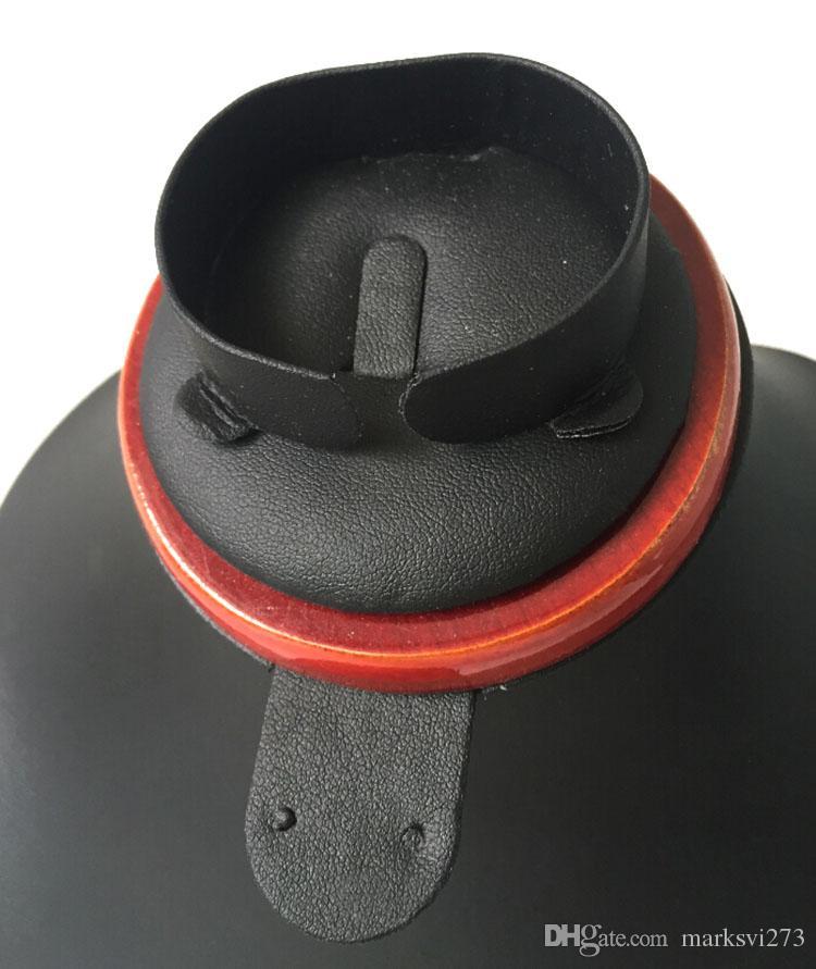 Pintura em madeira colar de couro PU anel brinco pulseira conjuntos de jóias organizador Display Stand Titular rack de armazenamento Busto Manequim