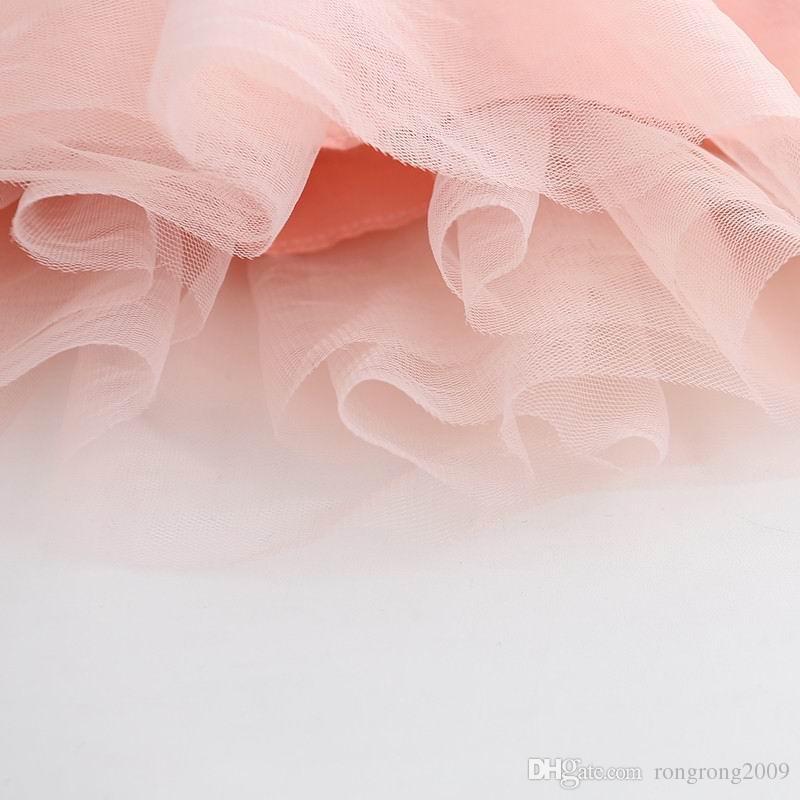 Wiosna Jesień Nowa Dziewczyna Suknie Korea Styl Polka Dot Gaza Z Długim Rękawem Princess Dress Odzież 3-6T AZ470