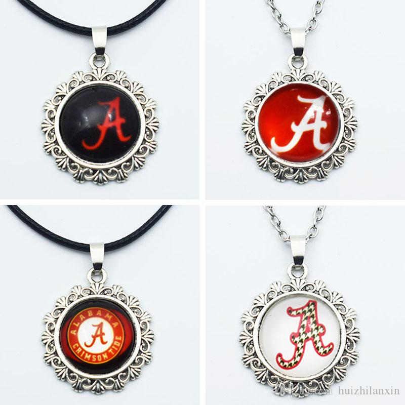 Wholesale ncaa alabama sports team round charm pendant necklace wholesale ncaa alabama sports team round charm pendant necklace jewelry 20mm glass time gem for fans sports pendant necklace costume jewellery jewelry from aloadofball Image collections