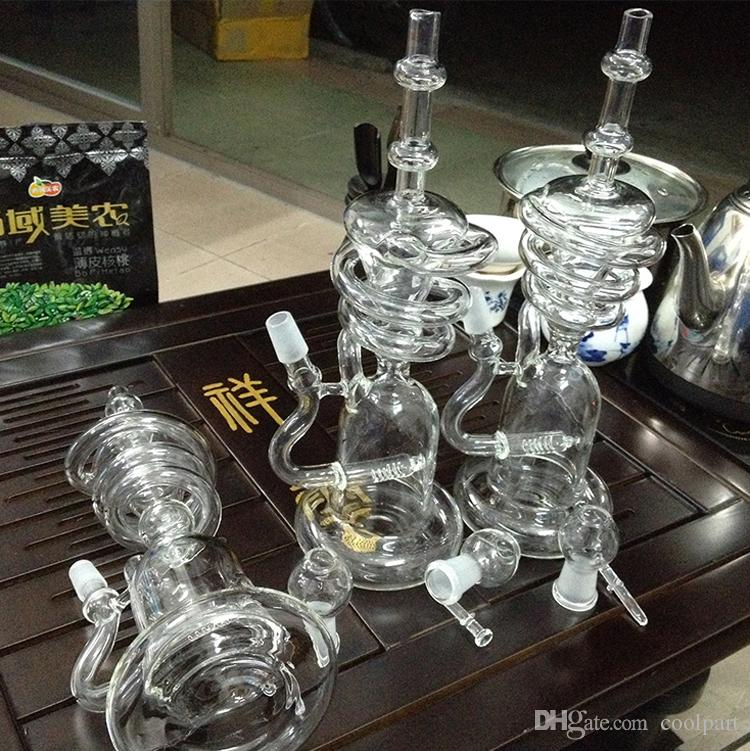 9.45inches Glass bong Newest Hitman Glass Sundae stack Glass oil rigs water pipes thick and sturdy glass with 14.5mm female joint