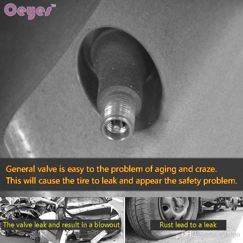 Válvulas del neumático del coche para toyota chr camry auris yaris prius avensis corolla NOAH rueda de la insignia del vástago del neumático tapas del coche car styling 4 unids / lote