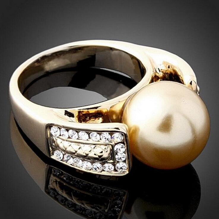Qualitäts-Mode-Trend 24 Karat vergoldet Retro Modeschmuck Ring Charme Schönes Geburtstagsgeschenk