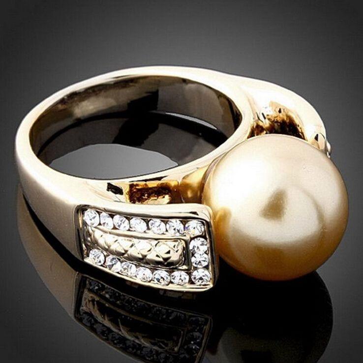 Tendência da moda de alta qualidade 24 k banhado a ouro Retro Moda Jóias Anel charme Belo presente de Aniversário