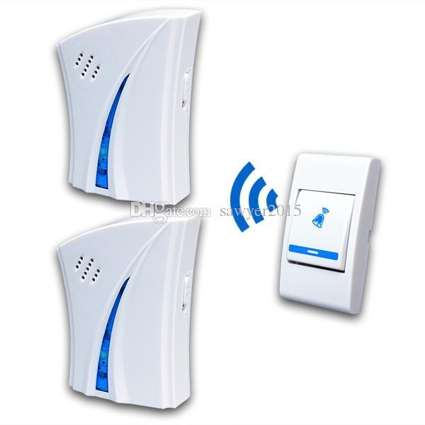 9510FD3 Wireless Digital Doorbell 150 meter 32 music Remote Control Doorbell Door Bell Chime 2 receivers 1 emitter doorbell