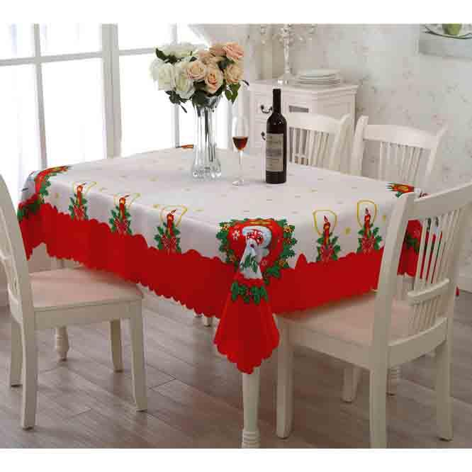 Christmas Party Table Overlays Cloth Foldable Hotel Table Cloth