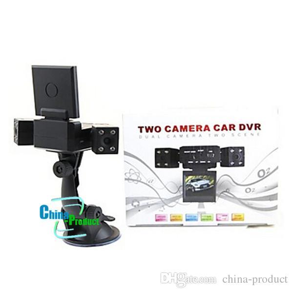 New Dual Two Lens Car DVR Cam Recorder Night Vision Vehicle Camera Video HD Car DVR 010224