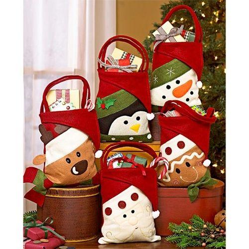 cute christmas gift bags candy bag santa claus snowman elk classic design christmas tree hangings kids xmas gift candy bags christmas gift christmas bag