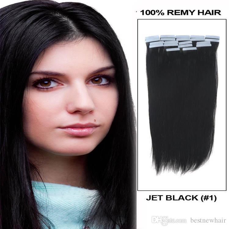 Лента на кожу 4см ширина 10 '' - 26 '' 2.5G / ПК 40 шт. / 100 г прямые индийские волосы кожи WEFT REMY лента в / на наращивание человеческих волос