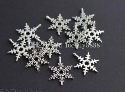 SNOWFLAKE Charms Christmas Pendants Antique Silver Tone Choose For diy necklace Jewelry Making findings