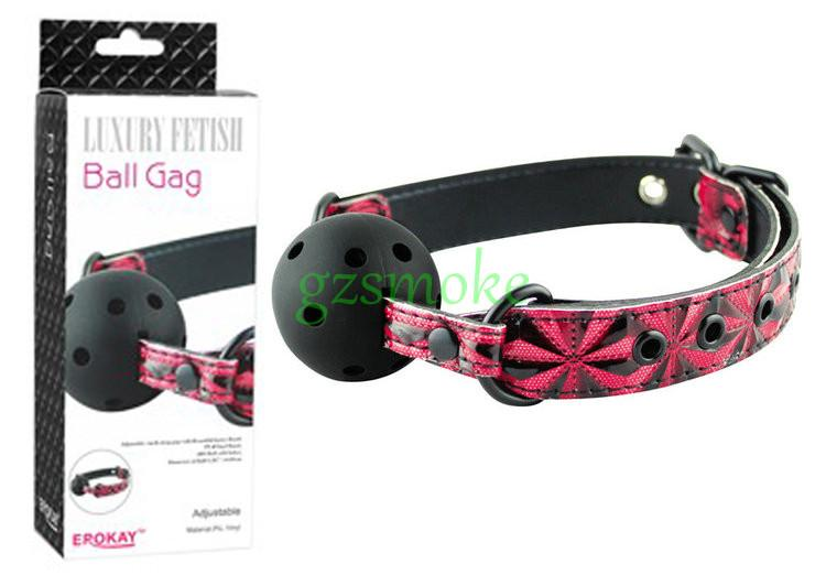 Quality PU Belt Band Strap Soft Rubber Ball gag Bondage Restraint Fetish Slave Gag For Couples,Apertural Plug sex toys