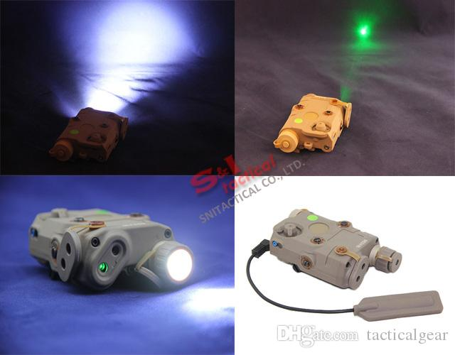 Tactical AN/PEQ-15 Green Laser with White LED Flashlight Torch IR illuminator For Hunting Outdoor Black/Dark Earth