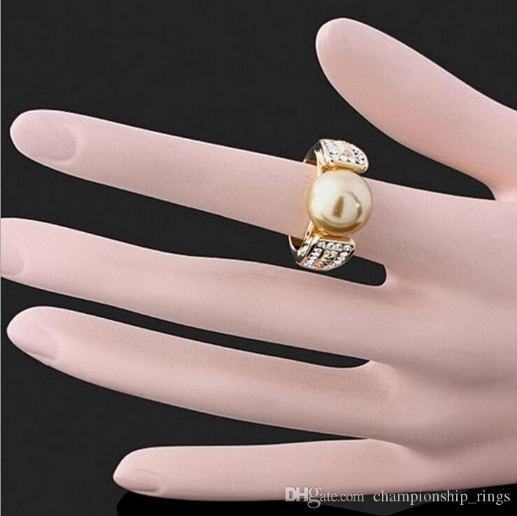 High quality fashion trend 24k gold plated Retro Fashion Jewelry Ring charm Beautiful Birthday gift
