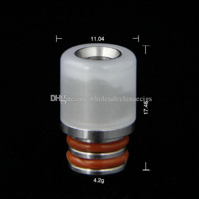 I più nuovi 510 Mini Turquoise Drip Tip Tophus Stone Punte a goccia Jade Drip Tips Bore Drip Tips 510 RDA RBA Vaporizzatori