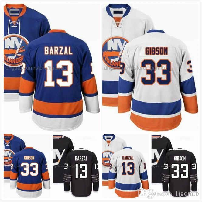 wholesale dealer 56d56 7b13a Mathew Barzal Jersey 13 John Stevens 45 Kyle Burroughs 38 Devon Toews 46  Christopher Gibson 33 Ice Hodkey Jerseys New York Islanders S-3X