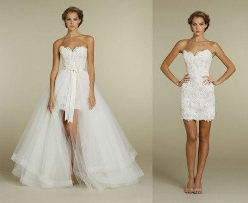 Discount 2016 Convertible Lace Wedding Dresses A Line