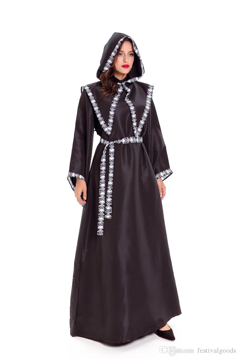 Halloween costumes for men and women lovers wizard play FuLao witch skull dress robes role installed suit