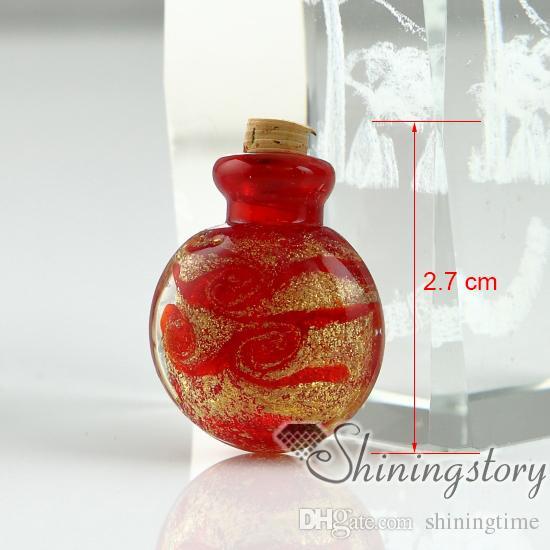 viales de vidrio pequeños para collares cenizas conmemorativas medallones para cenizas joyas joyería de recuerdo para cenizas colgantes de cristal en miniatura