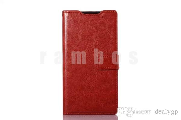 Flip Wallet PU Leather Mobile Phone Case Cover Credit Slots Phone Frame for Sony Xperia Z3 mini Compact/Z2 mini Compact/Z3/Z4/E3/E4