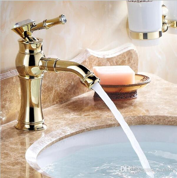 High End Gold Bathroom Faucets with Rhinestone,european Style Brass ...
