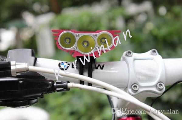 Solarstorm Bike Light Black / Red 3x Cree U2 T6 LED Head Front Light Light Reflektor Headlamp Outdoor Sport Lampa bez baterii