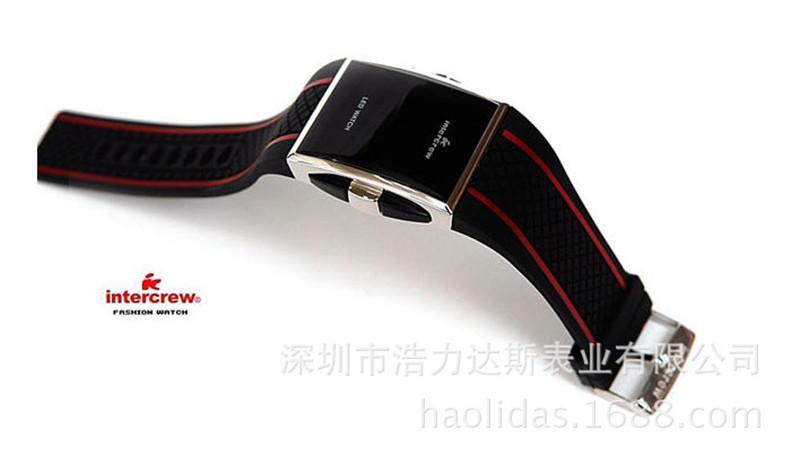 Reloj de lujo LED Intercrew para mujeres Hombre IC Deportes de silicona Reloj 2015 Venta caliente Square Digital Electronic LED